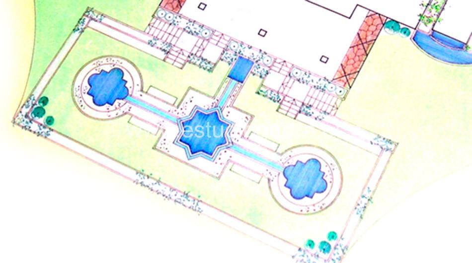 Diseño de jardín sobre plano.