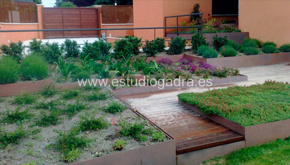 Jardineras en Acero Cortén.