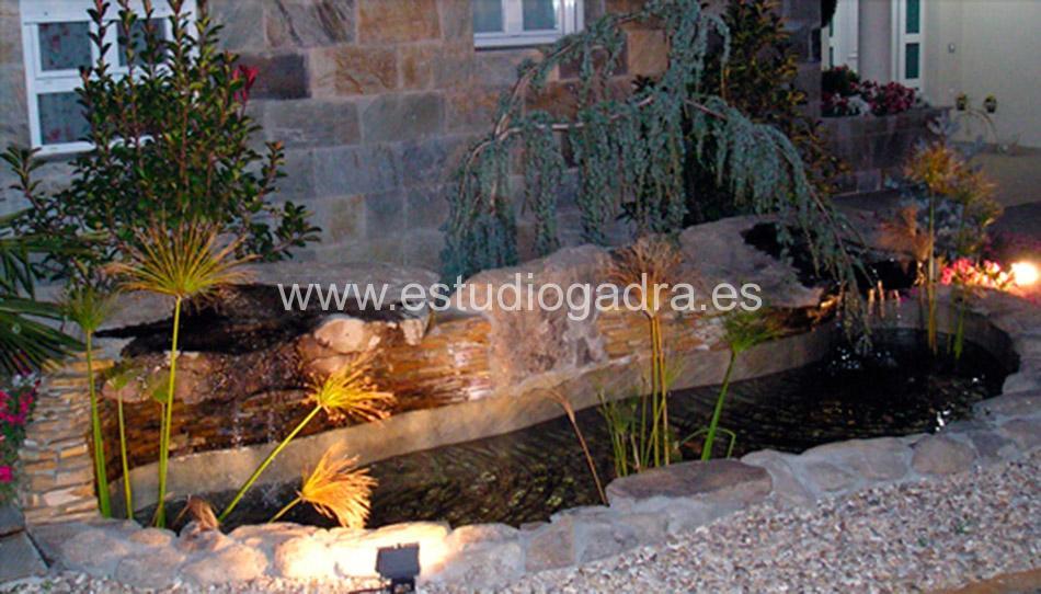 Iluminación para jardín.